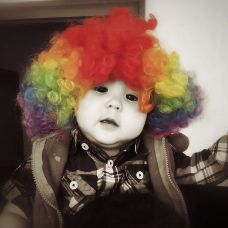Day 43 - Clown Baby iPhone 6 - Native Cam - Snapseed, PS Express, Blender