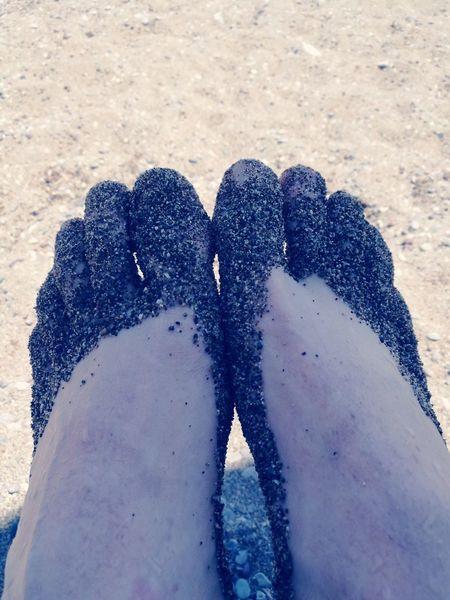 Rhodos, Greece  Plimiri Sand Beach Human Body Part Feet Nature