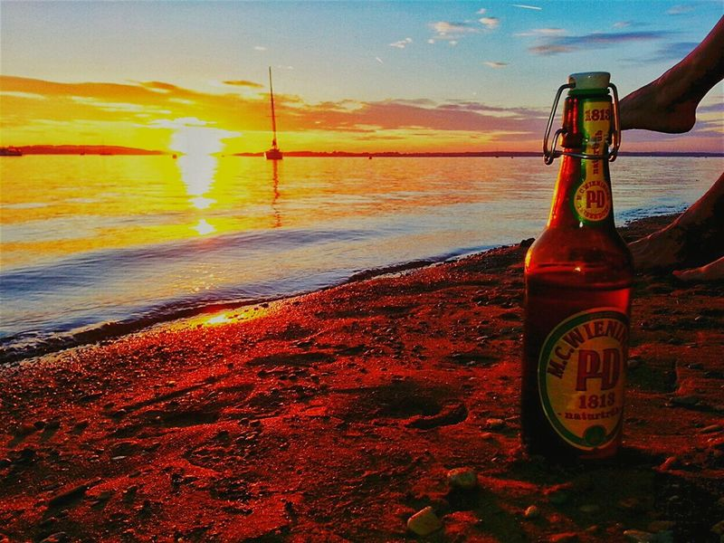 Relax The Essence Of Summer Beach Relaxing Beachlife Sunset Sailboat Beer Sunchair Lakeview Lake Bavaria Landscape Chiemsee 43 Golden Monents Live For The Story