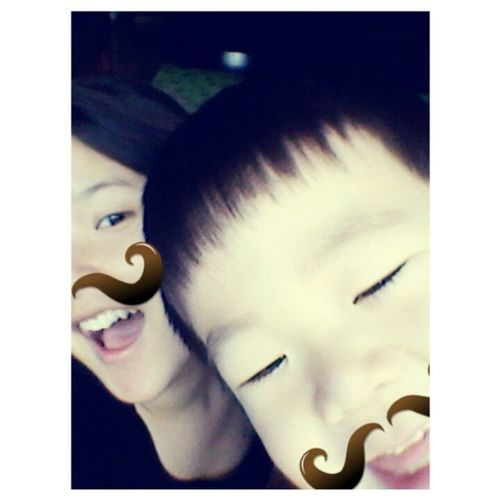 hahaha Moustache Korean Baby Funny cutehahaasian