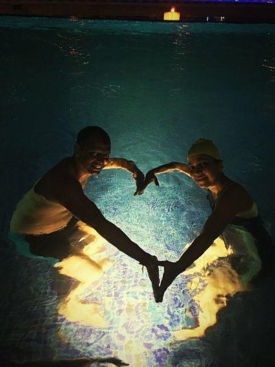 Sommergefühle Love Heart Shape Two People Romance Togetherness Water Poolside Heart Summerfeelings! Evening EyeEmNewHere EyeEm TOA 2017