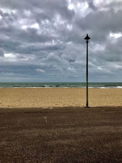 Sky Cloud - Sky Water Land Sea Beach Beauty In Nature No People Sand Overcast Outdoors Horizon