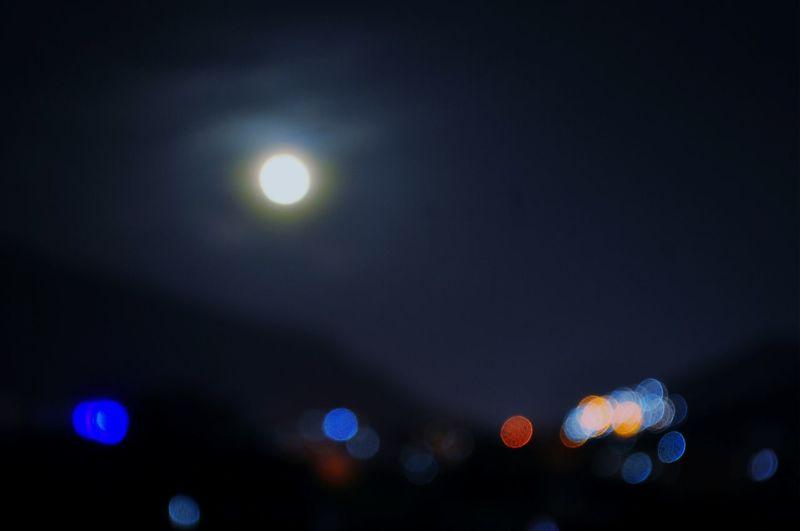 Moonlightscape EyeEm Moon Shots Bokehmoon Bokeh Lights Bluemoon Full Moon MoonScape🌕🌃🌌💖