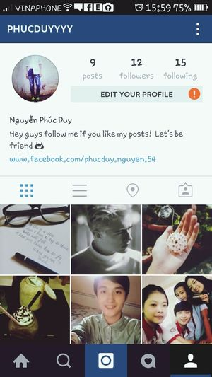 Hey guys ! This is my instagram...