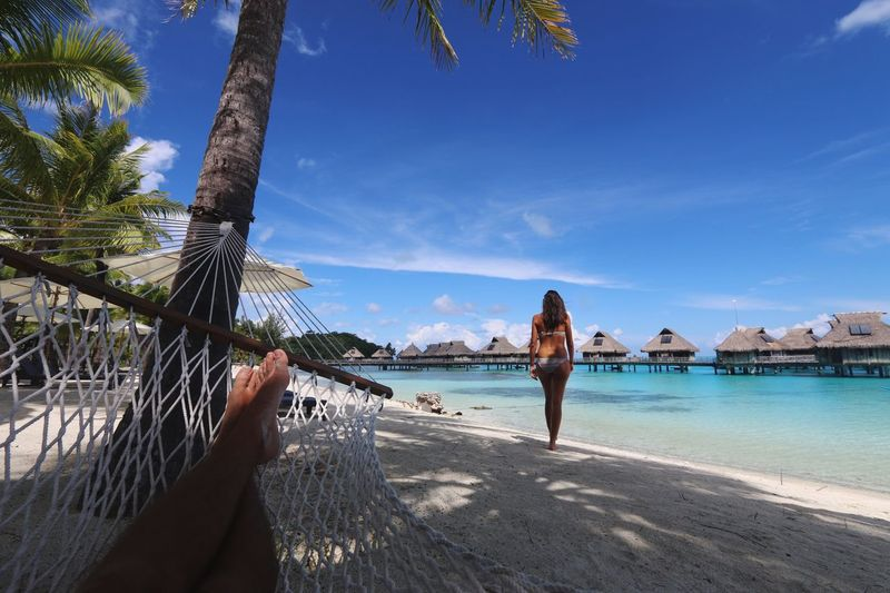 Love the view Love Girlfriend Palm Trees Freedom Going To An Exotic Place Holiday POV Holiday Check This Out Paradise Tropical Paradise Enjoying The Sun Life Is A Beach Sea Sun Relaxing Enjoying Life Beach Sleeping Girl Sexygirl Island Feet Hotel EyeEm Best Shots French Polynesia