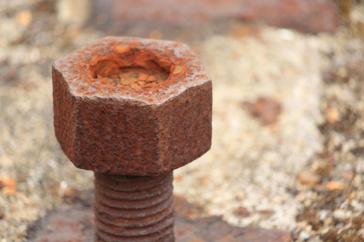 Brick Close-up Concrete Day Focus On Foreground Land Metal Nature No People Old Outdoors Protection Rock Rock - Object Run-down Rusty Security Single Object Solid Textured  Weathered