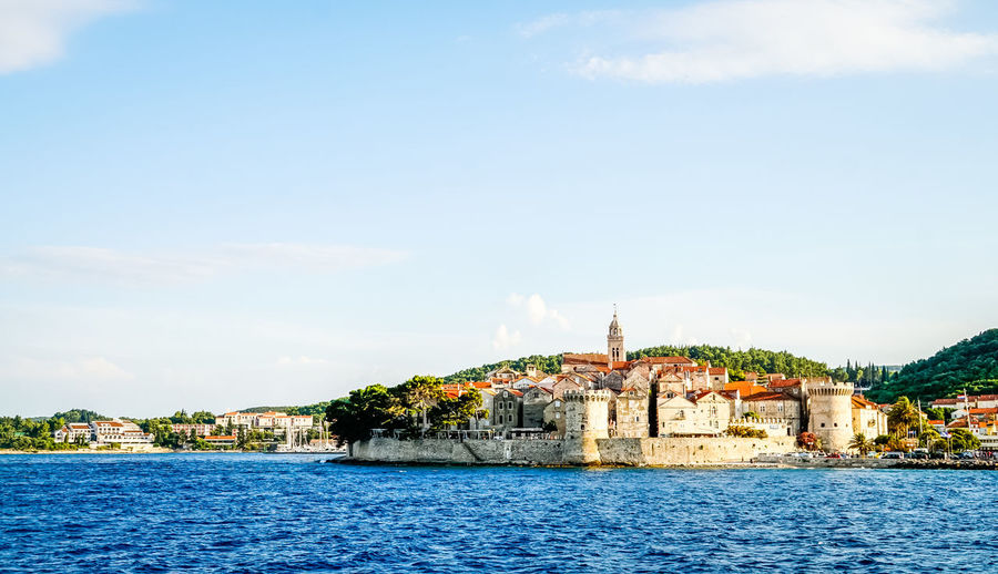 Old buildings on croatian coastline