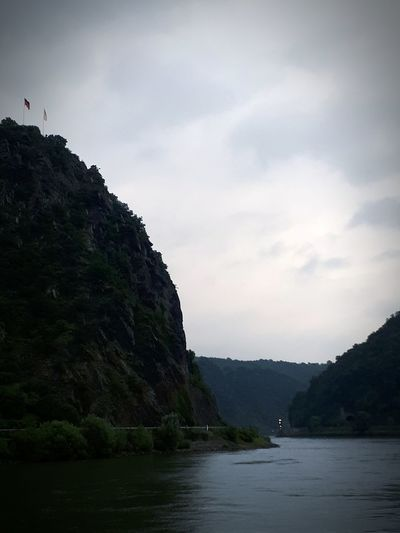 Mountain Dramatic Sky Outdoors No People Rock - Object Travel Destinations Tourism Cloud - Sky Landscape Nature Outdoor Pursuit Vacations Cliff Scenics Fog Water Beauty In Nature Rhein Loreley Von Rhein Loreleyfelsen Loreley Lorelei St. Goarshausen St. Goar Rheingau
