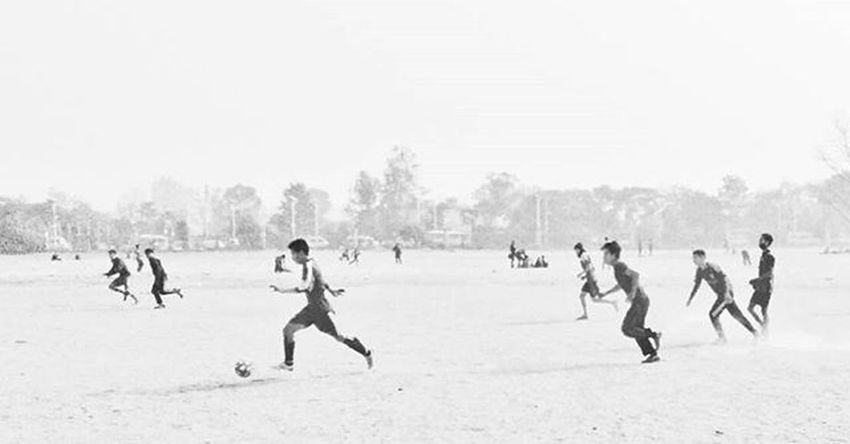 Tudikhel, Kathmandu. January 30th. Kathmandu Nepal Football Snapseed Cinematic