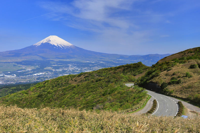 landscape japan hakone & Mt.fuji Beauty In Nature Day Direction Environment Grass Land Landscape Mountain Mountain Peak Mountain Range Nature No People Non-urban Scene Outdoors Plant Road Scenics - Nature Sky Snowcapped Mountain The Way Forward Tranquil Scene Tranquility Transportation