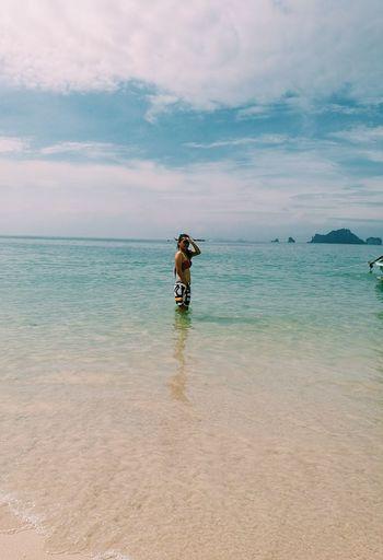 Railay Beach Krabi Thailand Beauty In Nature Sky Cloud - Sky Sea Water First Eyeem Photo