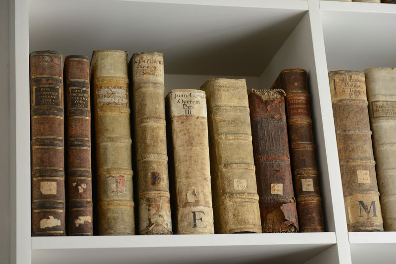 Antique Book Bookshelf Close-up Education History In A Row Indoors  Large Group Of Objects No People Old Publication Shelf Still Life Wood - Material