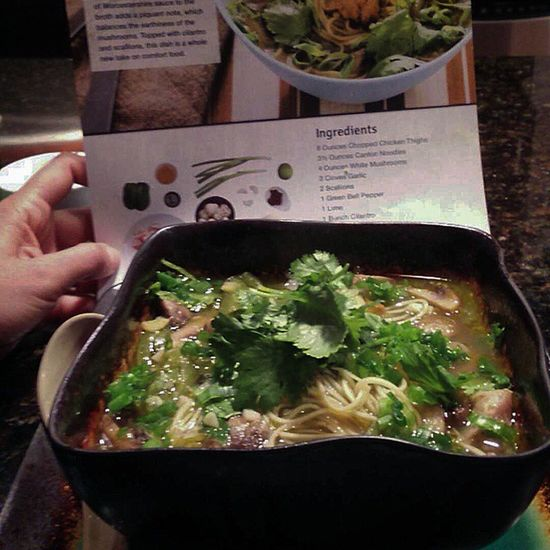 Spicythai Chickennoodlesoup Blueapron Farmtotable organiclife tasteslikepho soup nomnomnomnomnommmm
