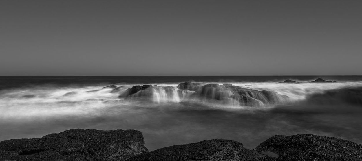 Flinders Blowhole Australia Flinders Ranges Beach Beauty In Nature Blackandwhite Clear Sky Day Horizon Over Water Long Exposure Monochrome Motion Nature No People Outdoors Rocks Scenics Sea Sky Water Wave EyeEm Nature Lover