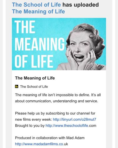 School Of Life Alain De Botton Livets Mening The Meaning Of Life Meaning Of Life if you ask the question, you are not ready for an answer.