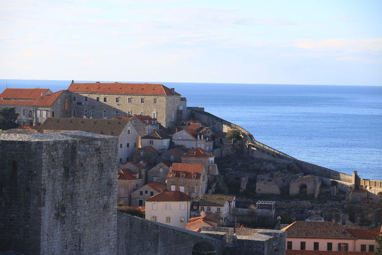 Croatia Dubrovnik Rooftop Old Town Drone View Urban Europe Built Structure Building Exterior Architecture Heritage Adriatic Sea Tower Town Crowded Travel Travel Destinations Travel Photography Seascape Ocean Beautiful Place Medieval Mediterranean  Horizon Over Water Sky