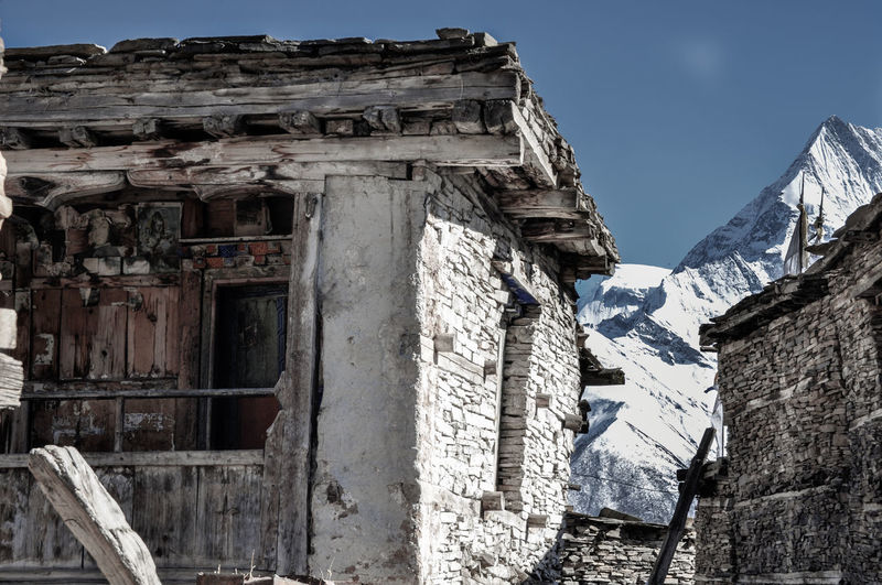 Nepal Travel Destinations Travel Annapurna Trekking Village Rural Scene Mountain Landscape View Ancient Civilization Ancient Old Ruin History Business Finance And Industry Architecture Sky Building Exterior Built Structure A New Beginning My Best Photo Stay Out