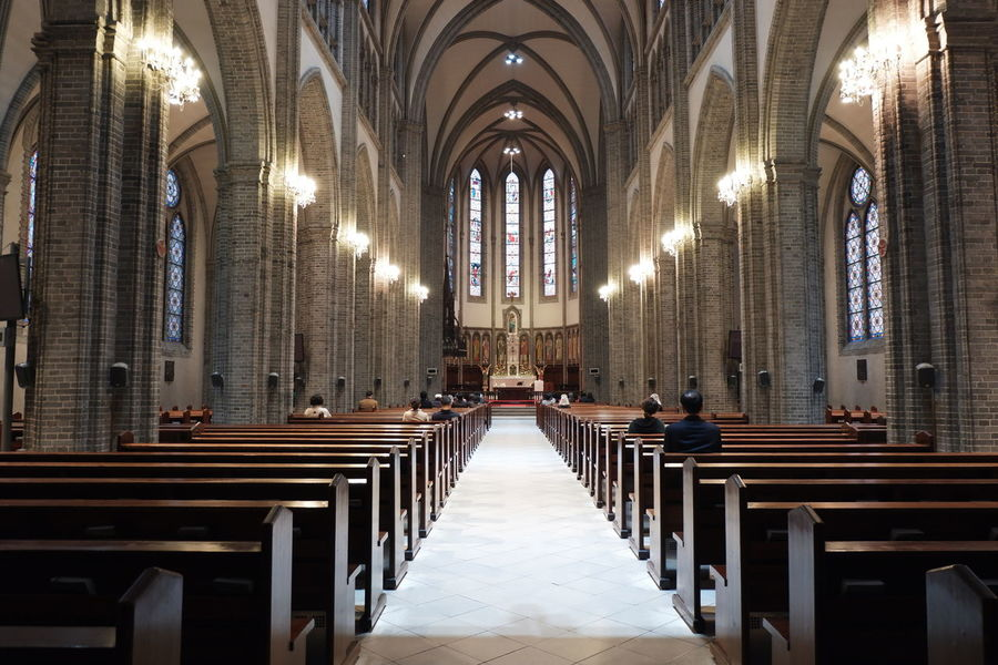 inside the myeong-dong cathedral, South Korea