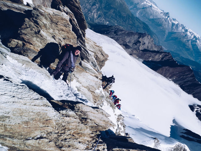 Alpine Alps Altitude Challenge Climbing Cold Cold Temperature Endurance Exhausted Extreme Sports Freezing Frozen Hard Ice Mountain Mountain Climbing Mountaineering Outdoors Perseverance Rock Snow Summit Tired Top Of The Mountains Wind