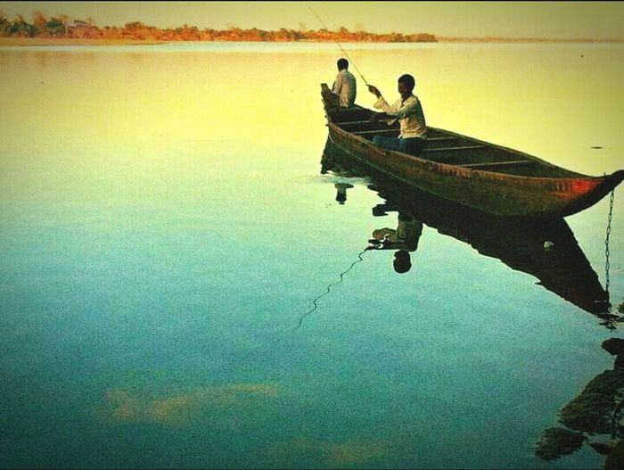 Fishing in Mahanadi river can be the silhoutte experience of your life that brings inner peace. Water Men Standing Water