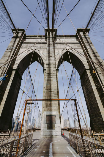 Transportation Built Structure Architecture Bridge Connection Bridge - Man Made Structure Engineering Sky Suspension Bridge Cable Travel Destinations Nature Day Low Angle View Travel Direction Tourism City Cable-stayed Bridge Arch Outdoors Brooklyn Brooklyn Bridge / New York Brooklyn Bridge