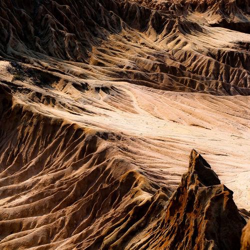 Full frame shot of dramatic landscape