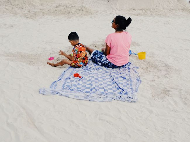 boracay Magic Carpet Lazy Laboracay Boracay White Sand White Sand Beach Sand Childhood Sitting Full Length Beach Child Boys Togetherness Two People Playing Girls Bed Sand Pail And Shovel Day Outdoors People Adult