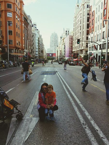 Gran vía Gran Via, Madrid únicamente ese dia Tuyyo First Eyeem Photo Cielo Azul Likeforlike Sol