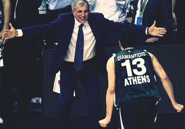 Panathinaikos Basketball Euroleague Legends One Love ... Diamantidis - Obradovic - Panathinaikos... Fuck olympiakos