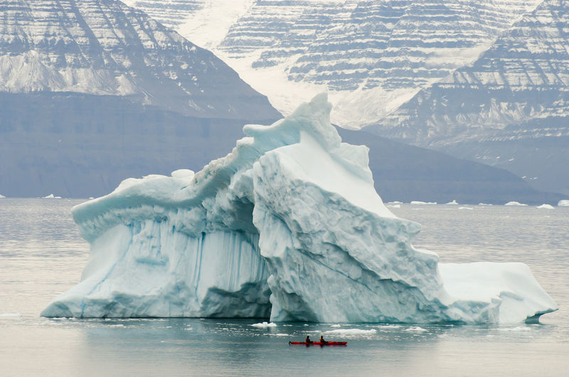 Iceberg in lake