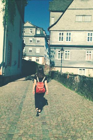 Restless traveler Travel Traveler Footpath Day Outdoors EyeEm Best Shots Sony Xperia PixlrExpress Person Young Adult Casual Clothing Marburger Schloss Marburg An Der Lahn Girl Young Women Me Sunlight People And Places Sun Sunbeam Faded On The Road Walking Exploring Historic Miles Away