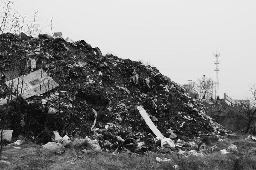 Landscape Social Issues Sky Tree Nature Outdoors No People Agriculture Day Dirty Mass Black And White Photography Countryside Rubbish Period Costume