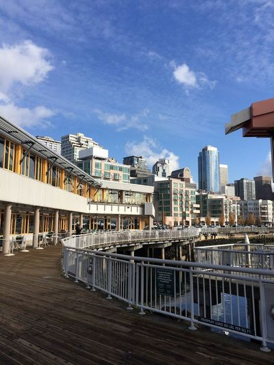 Seattle Waterfront Architecture Building Exterior Built Structure City Cityscape Cloud - Sky Day No People Outdoors Sky Travel Destinations