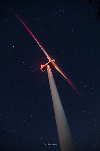 Modern sky Star - Space Night Space Business Finance And Industry Astronomy Outdoors Low Angle View Sky Scenics Wind Power Nature No People Wind Turbine Planet Earth Galaxy