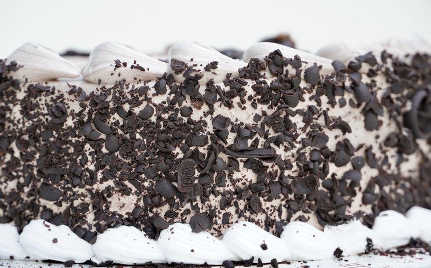 Close-up of ice cream in snow