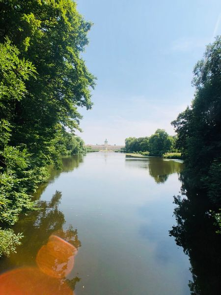Charlottenburg Tree Water Plant Sky Nature Reflection Architecture No People Scenics - Nature Growth Day Building Exterior Outdoors Tranquility Built Structure Cloud - Sky Tranquil Scene Beauty In Nature Lake