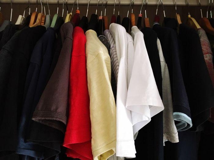 Clothing hanging on coathanger