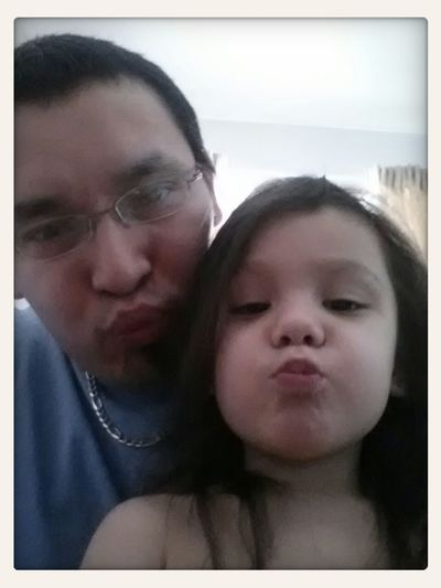 Kissy faces with my lovely, awesome, beautiful and hilarious daughter!! Hamilton