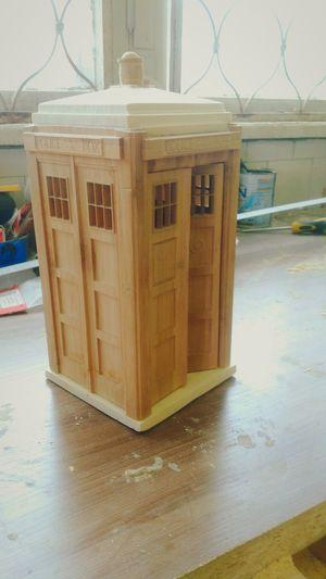 Tardis in production Tardis Doctor Who Tardis Wood Model Policebox