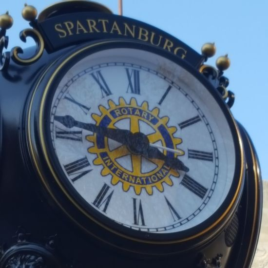 Downtown clock Time Clock Clock Face Roman Numeral Close-up Astrology Sign Old-fashioned No People Minute Hand Day Outdoors Astronomical Clock Astronomy Clockworks Downtown District Spartanburg, SC Love Where You Live Hour Hand