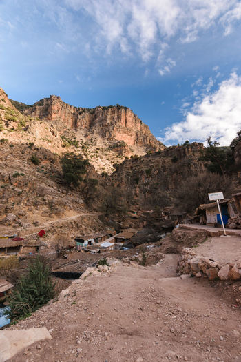 A small village, mainly consiting of shops and restaurants for the tourists, small shelters and mule parks, on the little hike to the sources d' Oum er- Rbia. Africa Aguelma Atlas Azigza Khenifra Morocco National Park Oum Er- Rbia Source Travel Destinations Vacation Wansifen