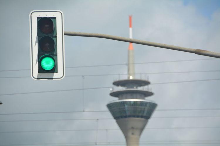 Green light against rheinturm