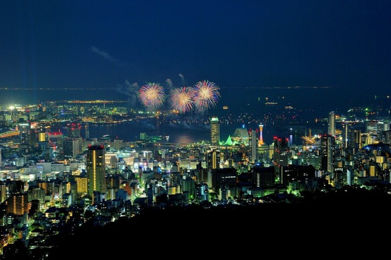 Fireworks Night View Colorful Kobe-shi,Japan Check This Out SummerNights BlueAlbum