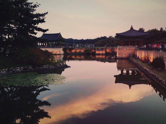 Gyeong Ju an apji korea o Ancient Palace.