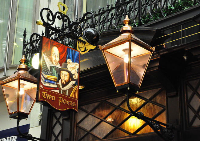 Architecture Building Exterior Built Structure Communication Cruiseships Illuminated Lamp Lit Lantern Lighting Equipment Low Angle View Night No People Outdoors Pub Signs Publife Text Two Poets Pub Breathing Space Your Ticket To Europe Postcode Postcards