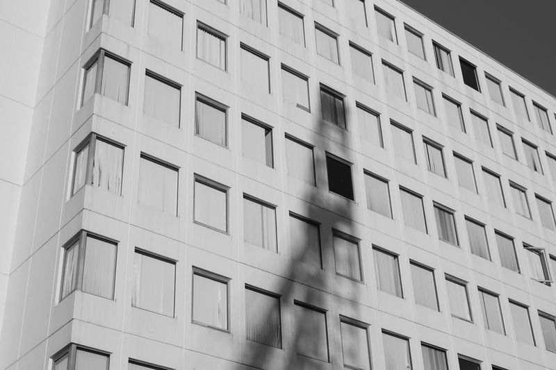 Apartment Architecture Backgrounds Building Building Exterior Built Structure City Day Design Full Frame Geometric Shape In A Row Low Angle View Modern No People Office Building Exterior Outdoors Pattern Repetition Shape Wall - Building Feature Window EyeEmNewHere