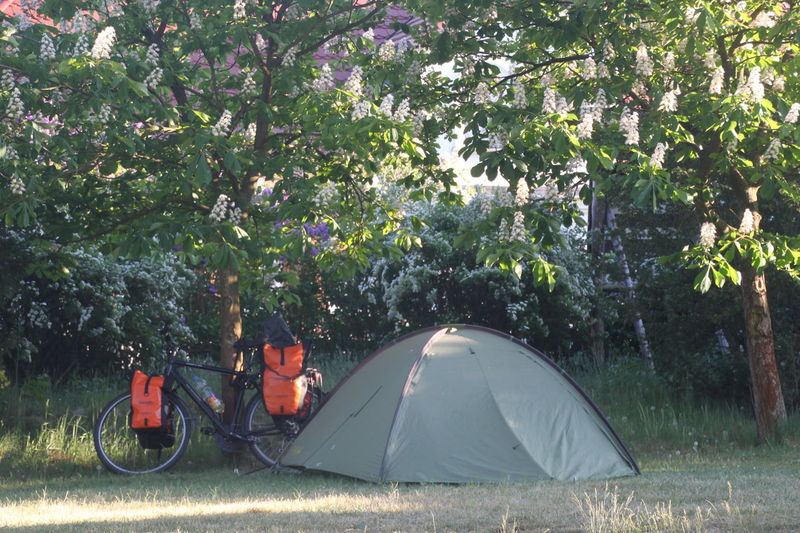 Havelradweg Adventure Beauty In Nature Camping Day Grass Growth Hiking Landscape Leisure Activity Modern Nature Outdoors Real People Scenics Shelter Sunlight Tent Tree An Eye For Travel The Traveler - 2018 EyeEm Awards