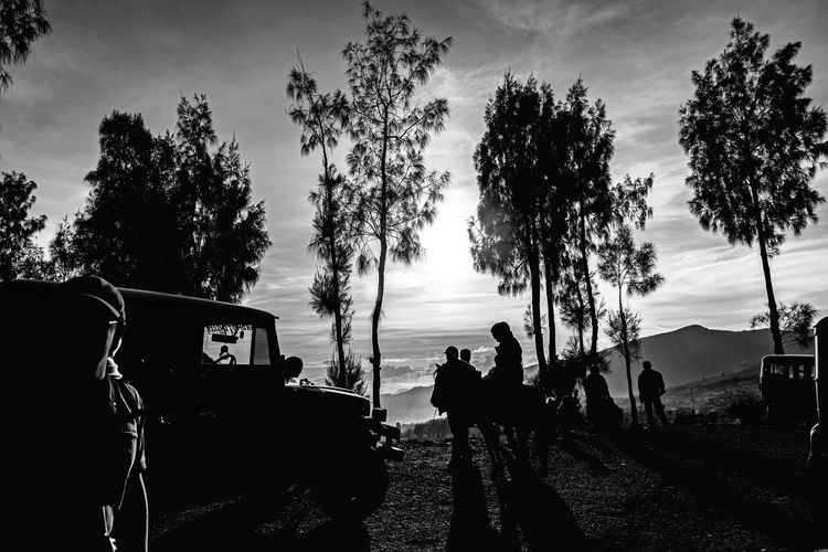 Blackandwhite Photography Black&white Monochrome Sunrise Bromo Mt.Bromo MtBromoShillouette Eyeemindonesia