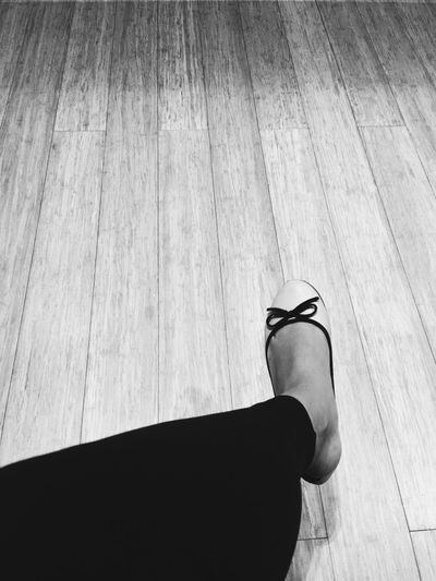 Blackandwhite Close-up Feet Hardwood Floor Human Body Part Human Leg Shoes Wood - Material