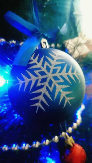 Blue Christmas Decoration 2017 Christmas Tree Christmastime Makro Photography Makro_collection
